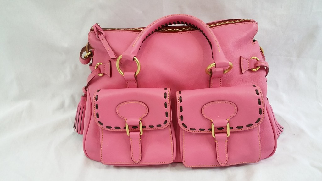 Dooney and Bourke Florentine Vachetta Leather Rose pink